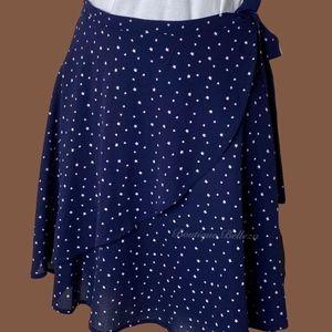 Francesca's Navy Blue Star Wrap Skirt